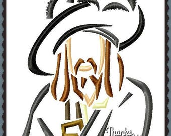 Captain Hector Barbosa from Pirates of the Caribbean Sketch Digital Embroidery Machine Design File 4x4 5x7 6x10