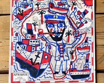 Sailor Africa / original drawing on map