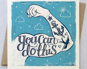 Tattoo Encouragement Card