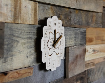 XL Wood Periodic Table Clock - Science - Chemistry - Physics - Baltic Birch Plywood