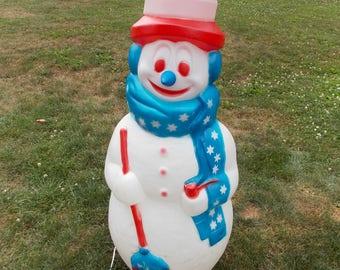 "Christmas Snowman Patriotic 42"" Outdoor Blowmold Blow Mold"