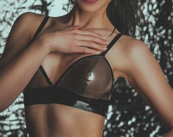 CL Design latex Bustier bra top sexy Lingerie