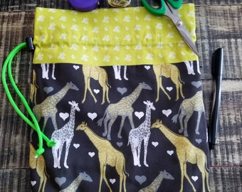 Giraffe Print Project Bag
