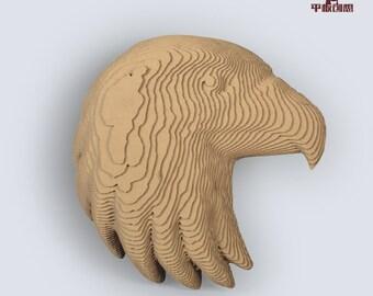 Eagle Head Relief  - DIY Cardboard Craft