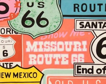Alexander Henry, Historic Route 66 Pink Cotton Woven