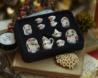 Ceramic Tiny little flower Tea Set