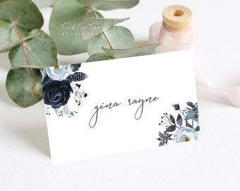 Place Cards - Navy & Bloom (Style 13815)