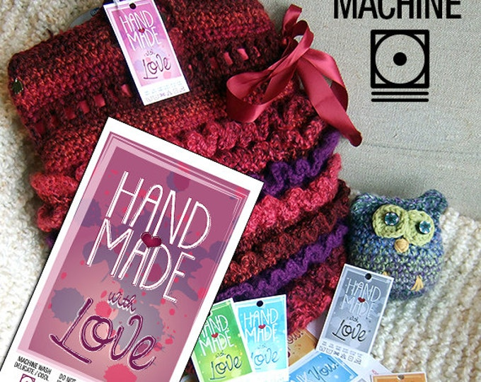 Machine Wash for Handmade Items Laundry Care Tag