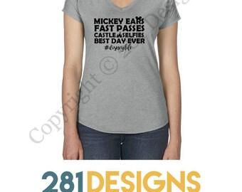 Disney Life Shirt, Disney Shirts for Women, Disneyland Shirt, Mickey ears, Disneyworld Shirts, Mickey Shirt, Disney Shirts