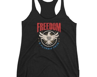 4th of July Independence Day 1776 USA Freedom Women's Racerback Tank
