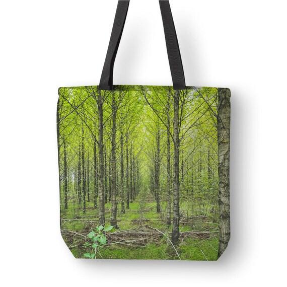 Nature bag Forest tote bag Gift for her Polyester Shoulder 9297ec634e