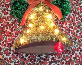 Christmas Bell Lights up,Vintage, Christmas accent, home decor