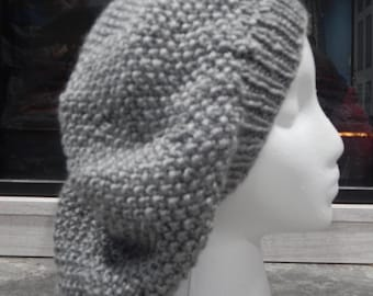 Super slouchy light gray slouchy hat