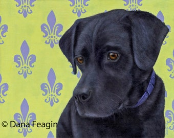 Labrador Retriever  Magnet - Large Vinyl Black Labrador Retriever Magnet - Dog Art - Proceeds Benefit Animal Charity