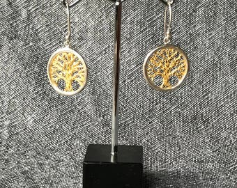 Tree of Life Eartings - Gold