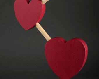 Wooden Hearts Connected