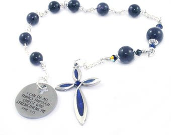 Christian Prayer Beads - Pocket Rosary - Anglican, Episcopalian, Protestant Pocket Rosary