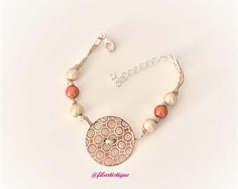 """Bracelet 2 """"string and beads"""" at Filartistique"""