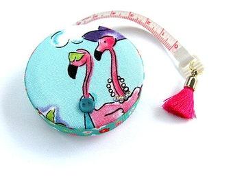 Measuring Tape  Resort Flamingos  Retractable Tape Measure