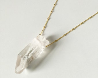 Extra Large Quartz Crystal Point Layering Necklace