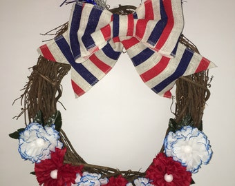 4th of July Independence Day Memorial Day Wreath