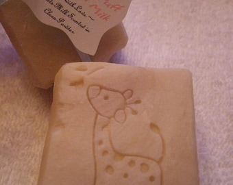 POWDER PUFF GOATS Milk Soap Loaded with Shea Butter and Avocado and Sweet Almond Oils