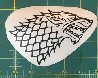 Game of Thrones: Stark, Dire Wolf Sigil Decal, Black