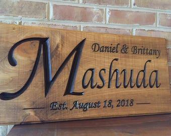 Wedding date sign anniversary date sign custom anniversary