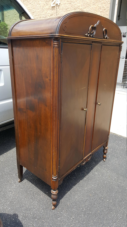 antique wardrobe closet chifferobe armoire dresser vintage photo