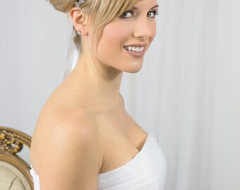 Crystal Tiara - Crystal Headband - Crystal Hairband - Bridal Tiara - Bridal Headband - Bridal Hairband - Cubic Zirconia Hairpiece - ANNE
