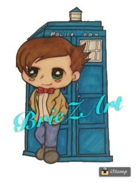 doctor who clipart matt smith with tardis rh etsy com doctor clipart woman doctor clipart black and white