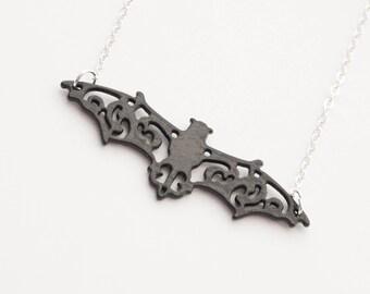 Bat Necklace, Goth necklace, Vampire Bat Necklace, Halloween Necklace, Bat Jewelry, Halloween Jewelry, Black Necklace