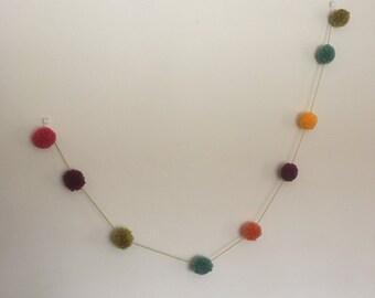 Multicoloured Pom Pom Bunting