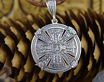 Slavic Kres Power Amulet. Handmade Viking Jewelry. Pagan Wicca Scandinavian Neclace. Ancient Slavonc Nordic Witchcraft Talisman Necklace.