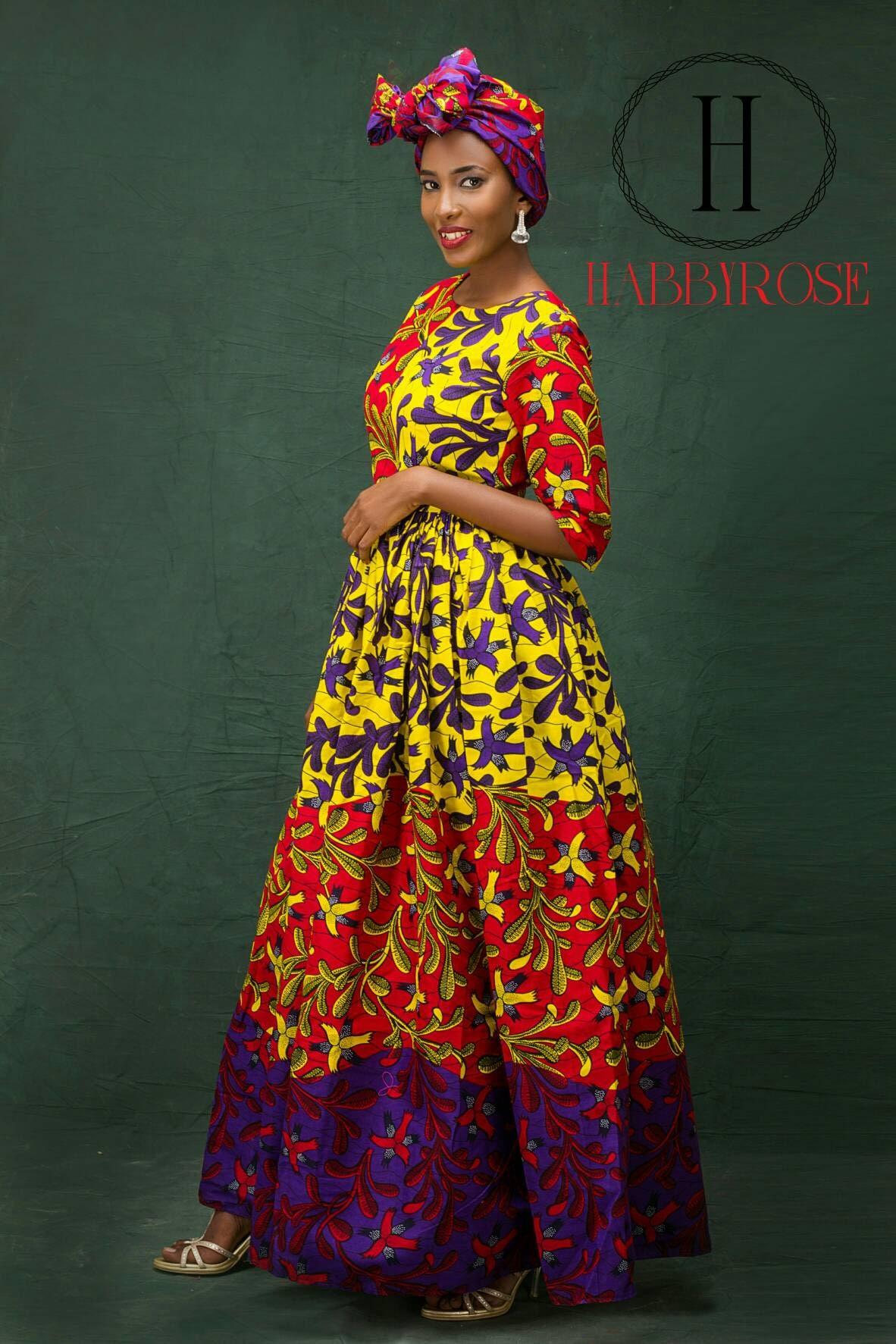 Mira Maxi dress Long African dress Maxi African dress