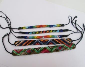 5 bracelets brésilien d'amitié en perles de rocaille multicolore