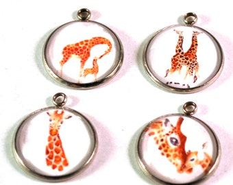 Giraffe  Charms, Bracelet Charms, Animal Charms, Giraffe Beads, Necklace Charms, 20mm Charms, Charms for Bracelets, Charms for Jewelry