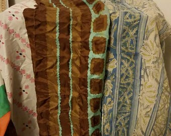 Vintage Scarves, Long and Narrow Wraps