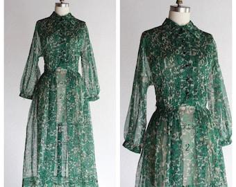 1950s Verde illusion Dress