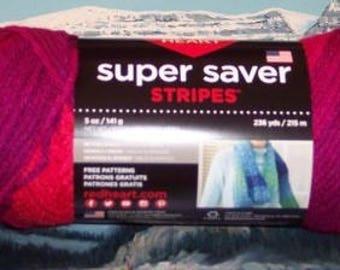 3004962 Red Heart Super Saver Stripes 5 oz Fruity