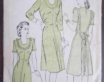 Vintage Advance 3722 Misses Dress 1940's size 12