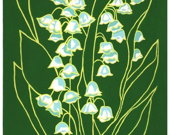 May Lily of the Valley: Flower print 8x10