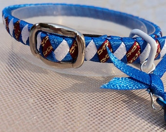 Patriotic Kitten Collar Red White and Blue