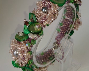 Statement floral bracelet
