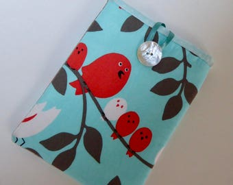 Birdies Cover for Kindle, Handmade Bright Birds eReader Case, Birdies Sleeve for Kindle