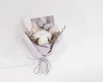Handmade Small Bouquet/ Preserved Flower and Dried Flower Bouquet/ Wedding Bouquet/ Purple Bouquet/Home Decor /Valentine's Day Gift
