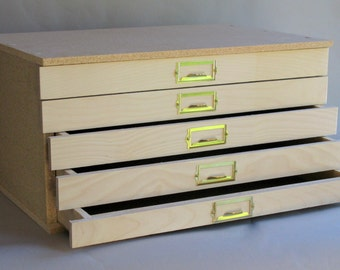 Storage Cabinet, Flat File. Save By Finishing The Exterior Yourself. Econo  Model