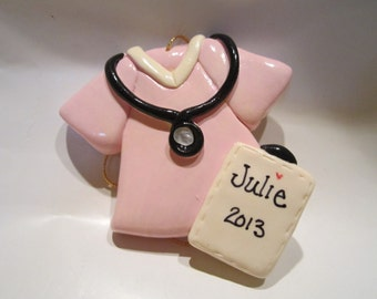 Personalized Scrubs Christmas Ornament/ nurse /medical /Doctor