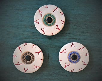 Ceramic Bloodshot Eyeball Magnet