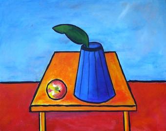 Apple and Vase - still Life